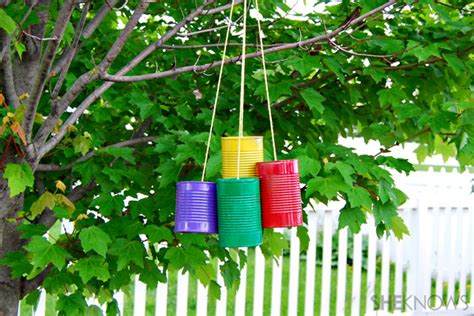 outdoor craft projects summer c inspired crafts for tin can wind chime