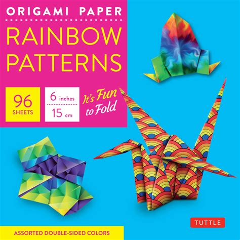 size of origami paper origami paper rainbow patterns 6 quot size 96 sheets