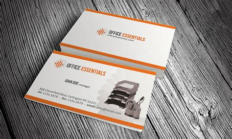 card equipment stationery office equipment business card template