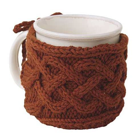 knitted mug cosy free pattern cabled mug cozy pattern knitting patterns and crochet