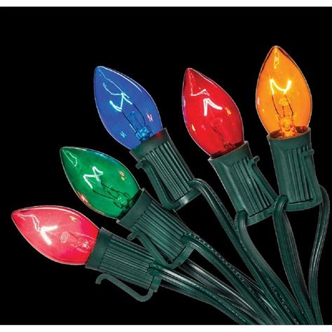 home accents lights home accents c7 25 light multi color incandescent