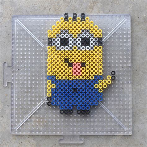 how to make perler bead minions perler bead patterns frugal for boys and