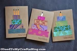 crafts with cards paper scrap birthday cards craft idea stickyu