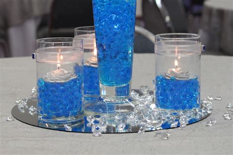 blue and silver centerpieces beginnings royal blue and silver church wedding and