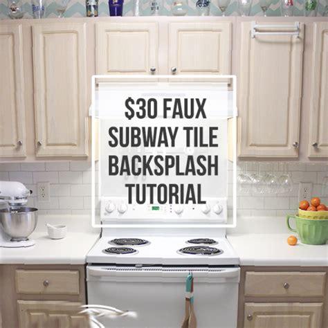 easy backsplash kitchen 30 faux subway tile backsplash diy submitted to