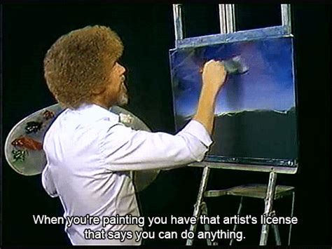 bob ross painting gif bob ross gif find on giphy