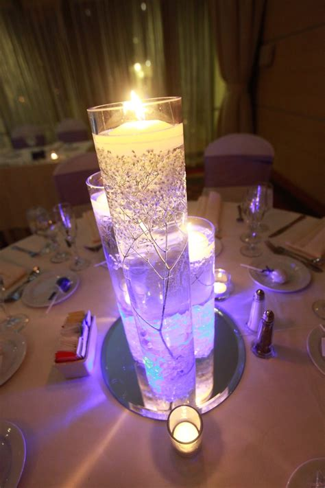 led wedding lights wedding centerpieces with purple led lights and