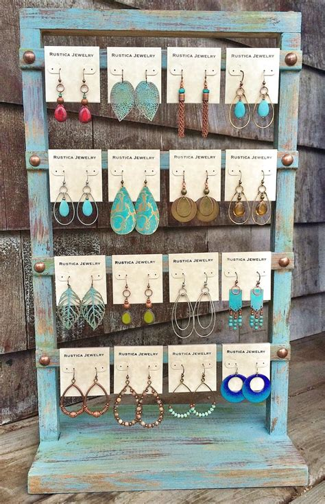 how to make jewelry displays for craft shows shabby chic earring display www rusticajewelry