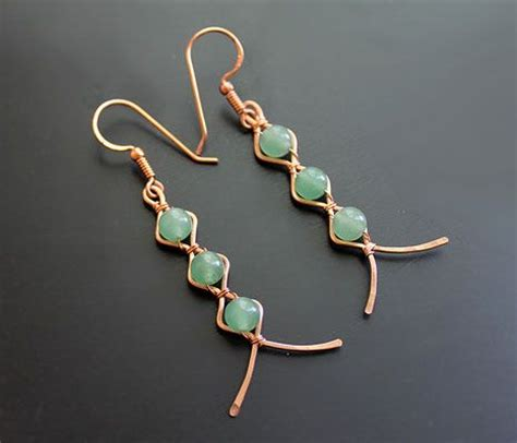 patterned wire for jewelry zig zag earrings by albina manning a free jewelry pattern