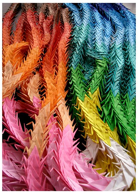 thousand origami cranes origami of paper folding by 3wyl on deviantart