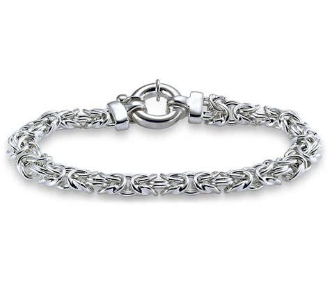 silver bracelet byzantine bracelet in sterling silver blue nile