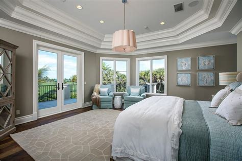 Ballard Design Bench traditional master bedroom with crown molding amp hardwood