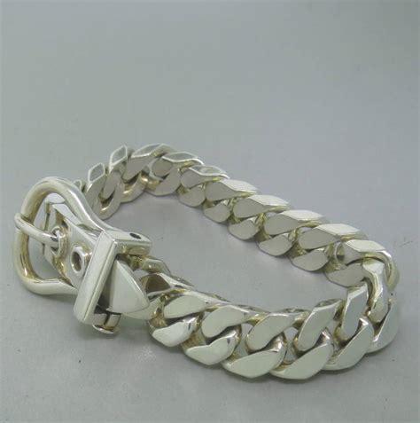 silver bracelet hermes boucle sellier silver bracelet at 1stdibs