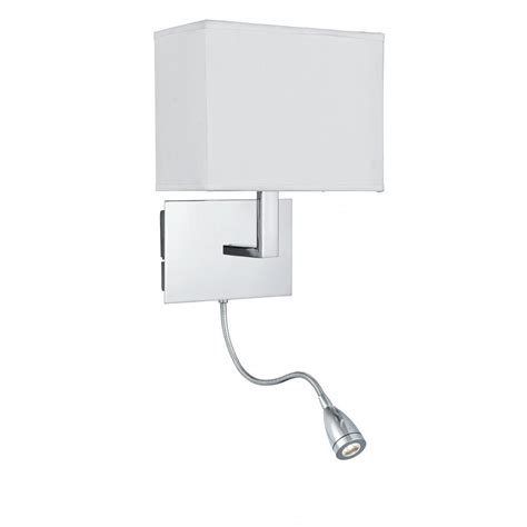 bedroom wall reading light low energy bed chrome wall light with led