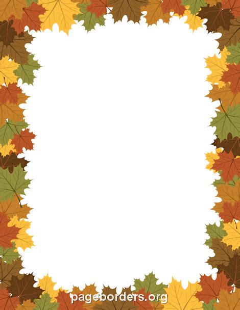 Day Lights Savings Time by Fall Foliage Border Clipart 18