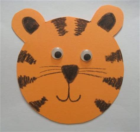tiger paper plate craft paper tiger family crafts