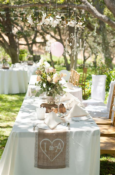 shabby chic weddings shabby chic backyard wedding