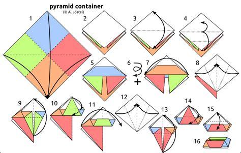 origami pyramid easy origami pyramid comot