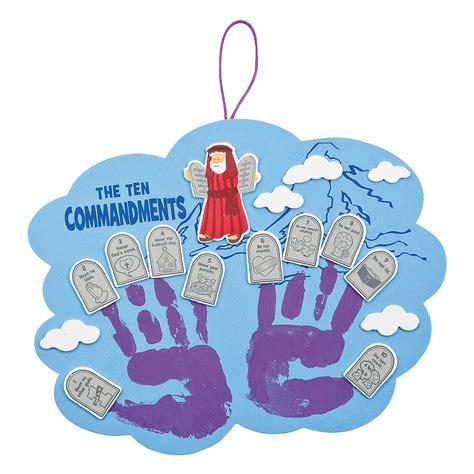 ten commandments crafts for ten commandments handprint craft kit handprint crafts