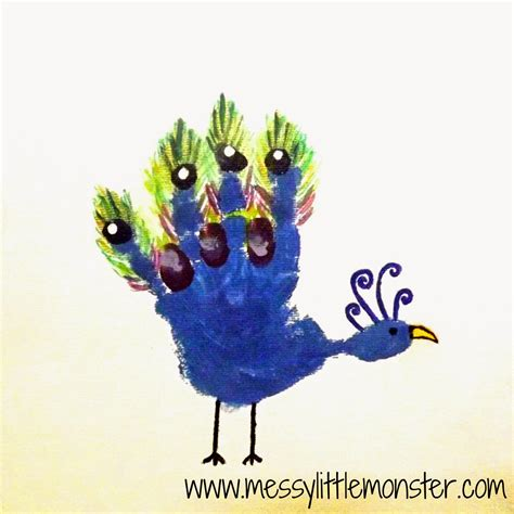 handprint craft for handprint animal canvas gifts
