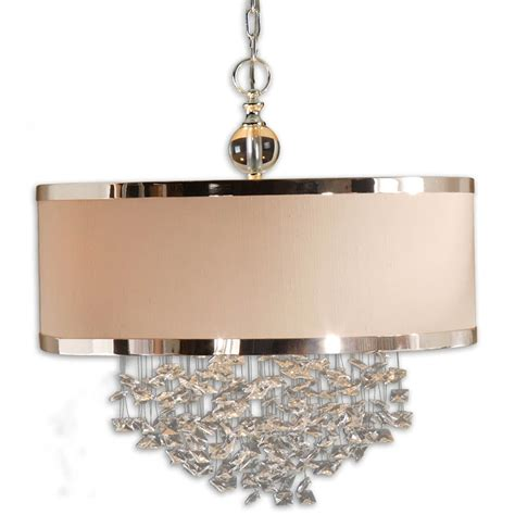 chandelier with shade and crystals chandelier with drum shade and crystals home design ideas