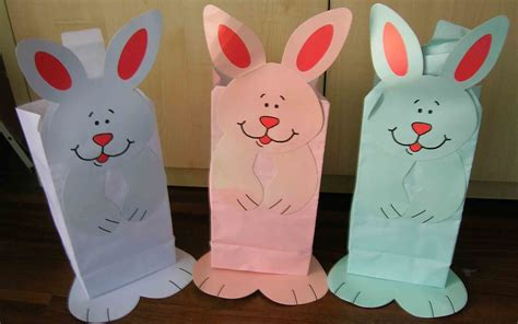 easter paper bag crafts easter crafts with paper bags