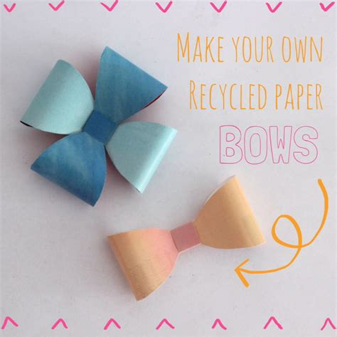 to do with paper how to make recycled paper bows for gift wrapping