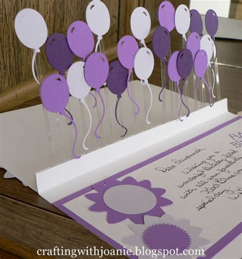 make a pop up birthday card crafting with joanie how to make a pop up balloon card