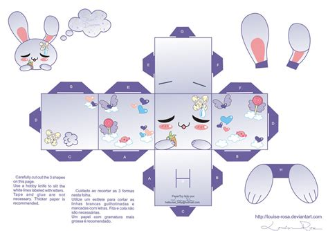 kawaii paper crafts papercraft sweet dreams 2 by louise rosa on deviantart