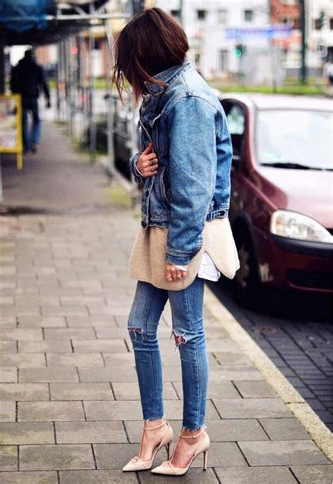 comment porter sa veste en jean en hiver les 201 claireuses