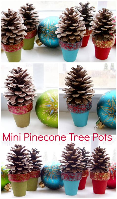 pinecone crafts for pinecone crafts mini pinecone tree pots