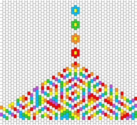 simple bead patterns rainbow flowers and spirals bead pattern peyote bead