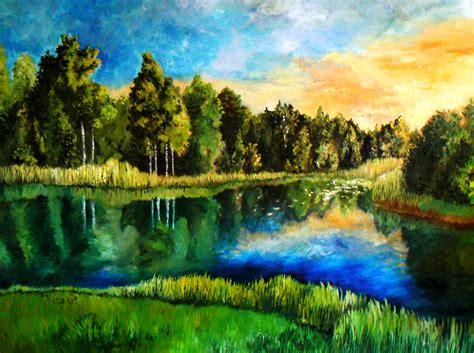 painting landscapes estonian landscape by doodlewithgluegun on deviantart