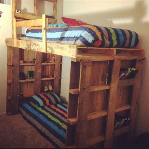 wood loft bunk bed astonishing ideas for pallet loft bunk beds wood