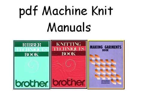 knitting machine pdf knitking compuknit knitting machine manuals on cd