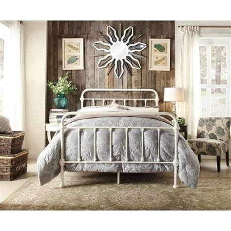 white metal bed monaco size modern metal bed frame in white buy