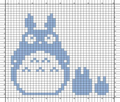 knitting charts nerdcrafts totoro knit potholder knitted