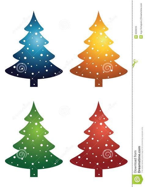 tree lights with different settings trees royalty free stock image image 6229016