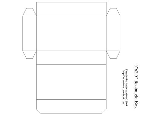 5 quot rectangle box box templates pinterest box and
