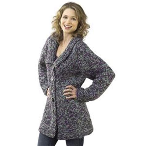 knitted coat patterns for free skill level easy
