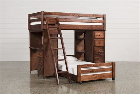 pictures of a bunk bed sedona loft bunk with chest desk living