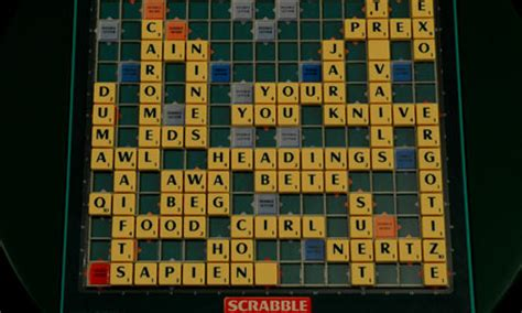 Scrabble King Celebrates With On Tiles And