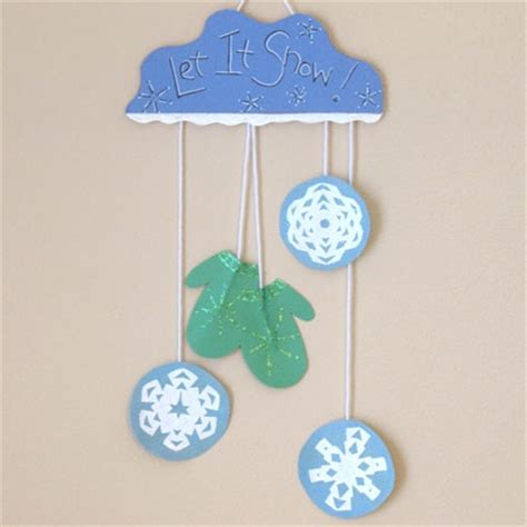 winter crafts for at school mitten and snowflake wall hanging family crafts