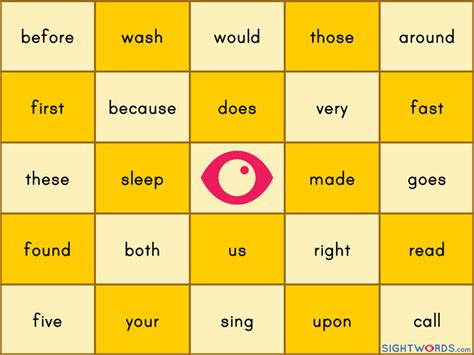 make a bingo card with words 9 best images of sight words bingo printable