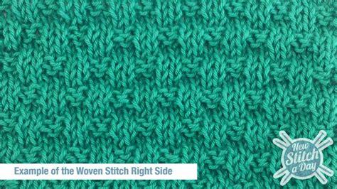 rs knitting the woven stitch knitting stitch 121