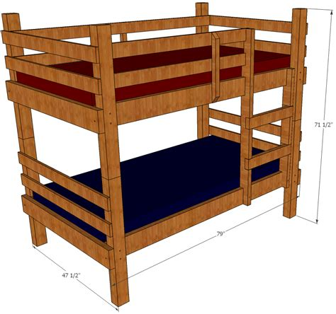 bunk bed plans save money and space by building your own