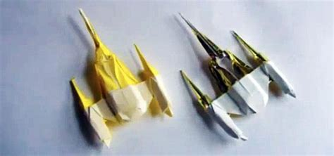 origami wars ships how to fold an origami naboo starfighter other wars