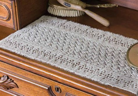 free knitted table runner patterns redecorate your home with these clever knitted home decor