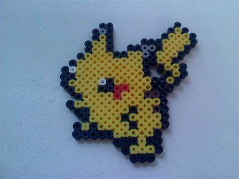 perle bead perler bead pikachu by sonicvelocity on deviantart