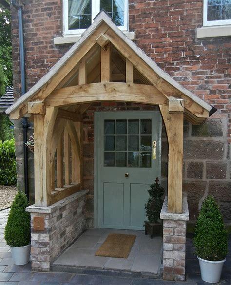 oak porch doorway wooden porch canopy entrance self